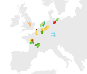 Queal ingredients map