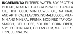 Soylent Bridge Ingredients