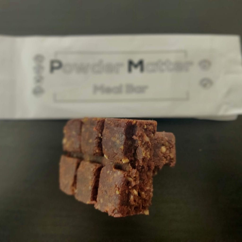 Powdermatter bar Whey Cinnamon texture