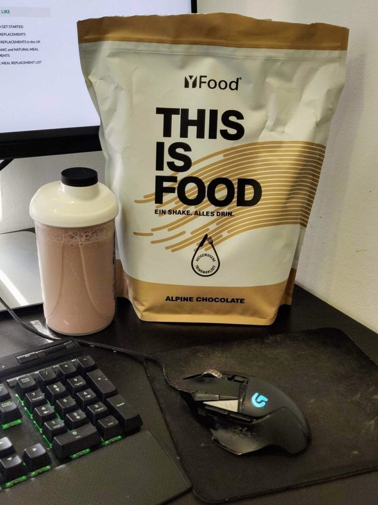 YFood Powder alpine chocolate taste review